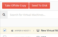 Take an offsite copy of virtual machine backups